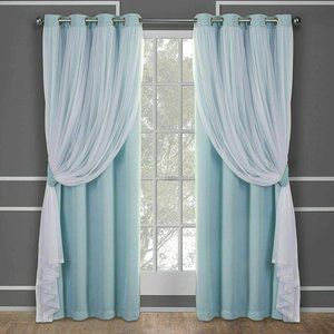 Exclusive Home Curtains Catarina Layered Solid Bla
